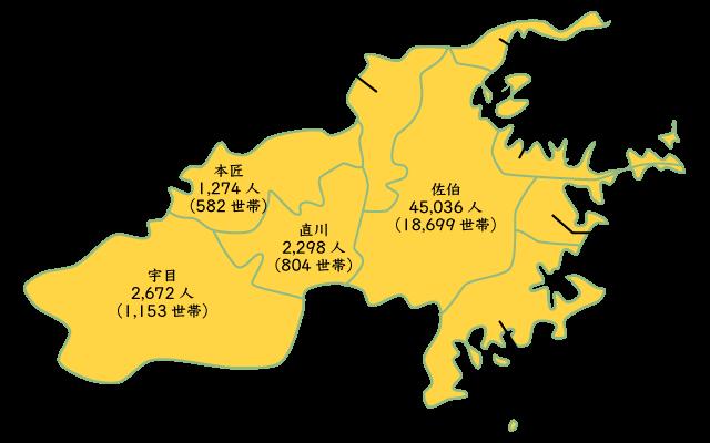 平成27年佐伯の人口分布